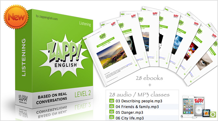 Learn English Online with Zapp! English Audio Course Listening Lessons