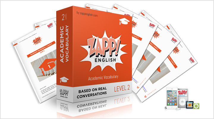 Zapp! English Academic Vocabulary Intermediate - audio pronunciation mp3 e-books