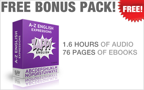 Zapp! English Advanced Colloquial Bonus! A-Z English Expressions