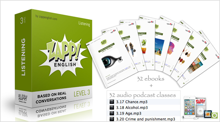 Zapp! Advanced English Listening - Download Audio and eBooks with transcriptions / scripts