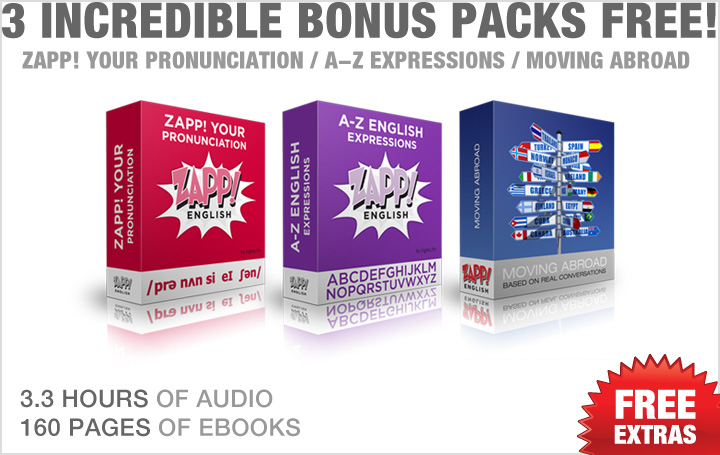 Zapp! English Super Pack Bonuses!
